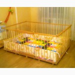 Большой детский деревянный манеж 1, 36х1, 93м с калиткой
