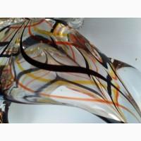 Конфетница - петух. Чешское стекло 70 годы