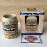 Кружка пивная керамическая Budweiser Label Stein