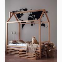 Детская кровать домик, из массива сосны/ березы/ бука
