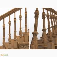 Лестница деревянная из сосны, дуба, бука, ясеня