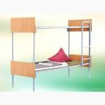 Армейские кровати со спинками ДСП, кровати трехъярусные металлические