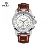 Часы Модные Мужские Megir Aviator Chronometer