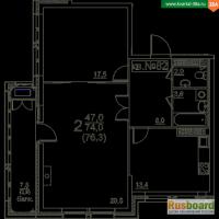 Продажа 2-комнатной квартиры в ЖК Квартал 38А на 15 этаже
