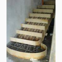 Заливаем бетонную лестницу.любой сложности