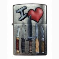 Зажигалка Zippo I Love Knives