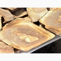 Натуральный природный дикий камень пластушка песчаник. Цвет тигровый