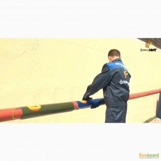 Предотвращение промерзания труб, трубопроводов с инфракрасными нагревателями ФлексиХИТ