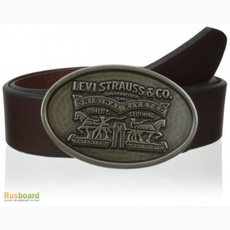 Ремень мужской Levis 40 mm Beveled Edge and Logo (Brown)