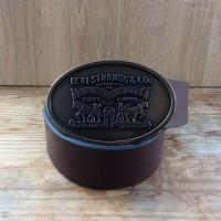 Ремень мужской Levis 40 mm Beveled Edge and Logo (Brown)