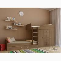 Детская двухъярусная кровать Астра 6