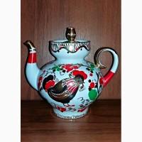 Фарфоровый чайник Петушок ЛФЗ СССР 1-й Сорт (Оригинал)