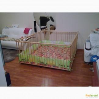 Манеж детский деревянный 1.6х1.8м на заказ