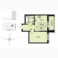 1-к квартира в строящемся доме ЖК Аист