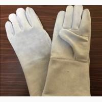 Перчатки из неокрашенного спилка категории А В