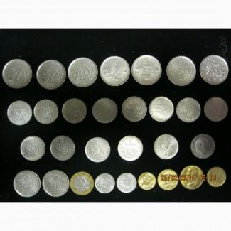Комплект монет Франции 1960 - 2000г.г.( 30 шт. )