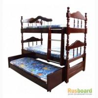 Кровати одно, двух, трехъярусные; комоды, шкафы, кухни из дерева. Диваны