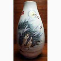 Китайская фарфоровая ваза Белые Журавли