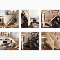 Деревянная лестница на второй этаж от Компании Русский Дом Миасс
