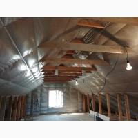 Утепление крыши дома, мансарды, стен, пола, потолка Минеральной ватой Изовер KV-05