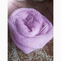 Вязаный шарф-снуд из мохера