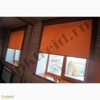 Рулонные шторы на коричневые пластиковые окна, рамы
