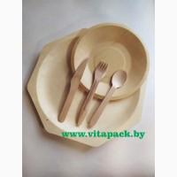 Биоразлагаемая одноразовая посуда из шпона