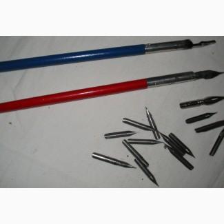 Две школьные ручки с перьями 40-е годы