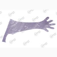 Перчатки ветеринарные для искусственного осеменения с наплечником 25 мкм