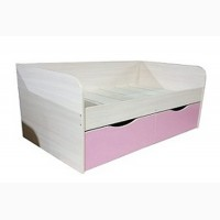 Детская одноярусная кровать с ящиками