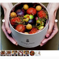 Экзотические фрукты в элегантной коробке – необычный подарок по поводу и без