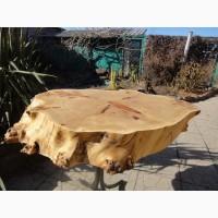 Роскошная столешница из массива капового горного тополя