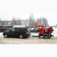 Дробилка для тонкомера и веток на прицепе, дробилка древесины автономная