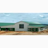 Производство, строительство ЛСТК ангаров промышленного