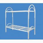 Железные кровати односпальные, Армейские металлические кровати с ДСП спинками