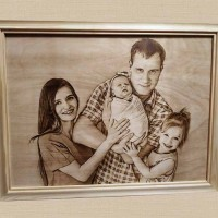 Подарок-портрет на Деревянную свадьбу