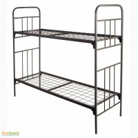 Трехъярусные металлические кровати, кровати со спинками ДСП, деревянные кровати