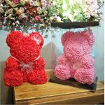 Мишки из фоамирановых 3D роз опт