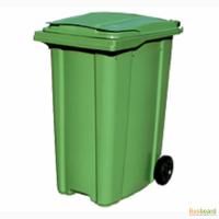 Пластиковые мусорные контейнеры на колесах с крышкой на 120, 240, 360 литров