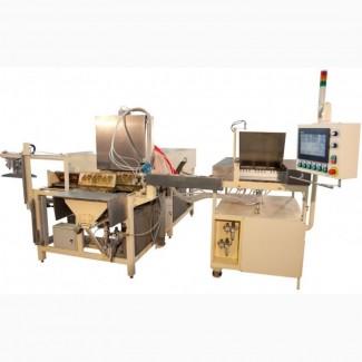 Автоматическая линия производства бисквитных кексов, крипсов, крэмблов