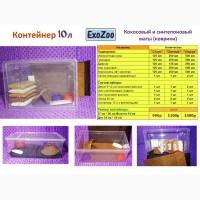 Комплекты контейнер + субстрат / маты для улиток Ахатина и Архахатина