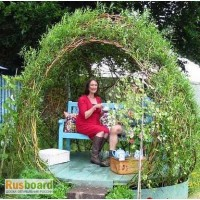 Садовая беседка и Живые конструкции из ивы