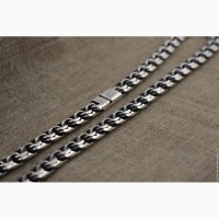 Мужская серебряная цепочка цепь на шею