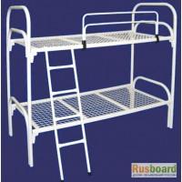 Кровати металлические одноярусные, кровати металлические с ДСП спинками, для лагерей