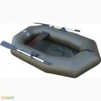 Лодка надувная двухместная ПВХ Альфа 21 весла