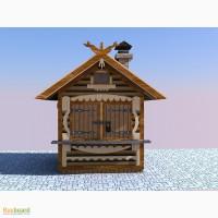 Строительство киоска из блок хауса