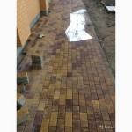 Выравнивание участка, укладка тротуарной плит