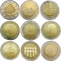 Испанские юбилейные монеты 2 евро