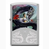 Зажигалка Zippo 2919 Anne Stokes Woman and Dragon