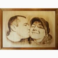 Портреты и картины на заказ выжженные на дереве